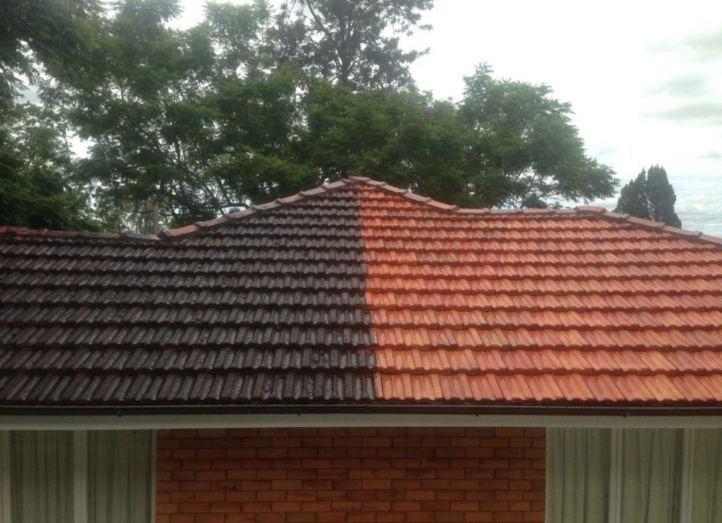Results from roof cleaning in Broadbeach - Gold Coast