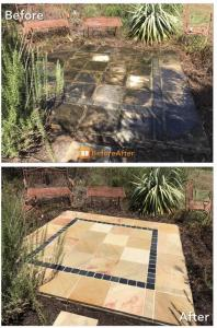 Pressure cleaning brisbane sandstone